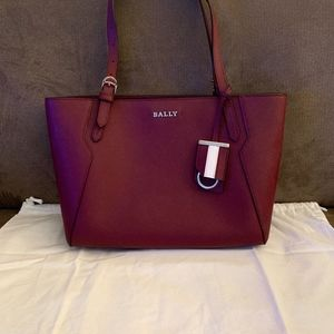 Authentic BALLY Burgundy Tote